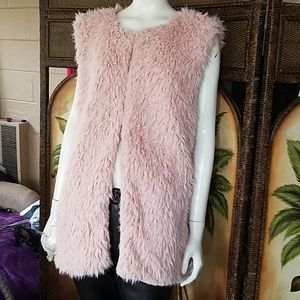 NWT!  Ruby Rd Furry Vest lined